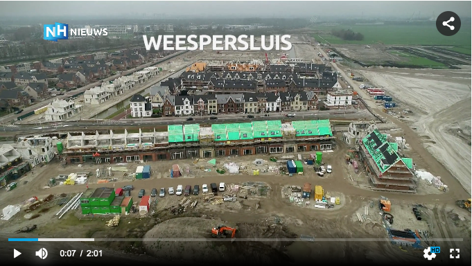 Screenshot film Dronebeelden Weespersluis