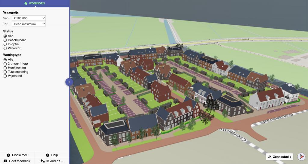 3D weergave woningen Vechtrijk