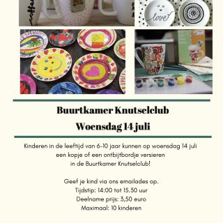 Poster Knutselclub 14 juli